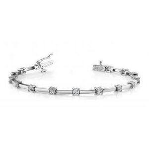 Jewelry - 14K White gold round diamond tennis bracelet women